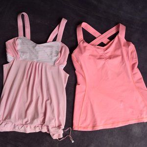 Lululemon work out tank top yoga Lot of 2